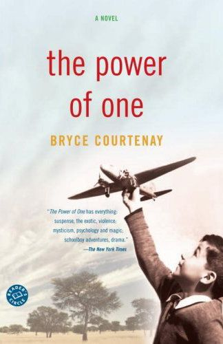 power of one bryce courtenay essay These are the questions at the heart of a stirring novel by bryce courtenay, the  power of one this story of an english boy raised in south.