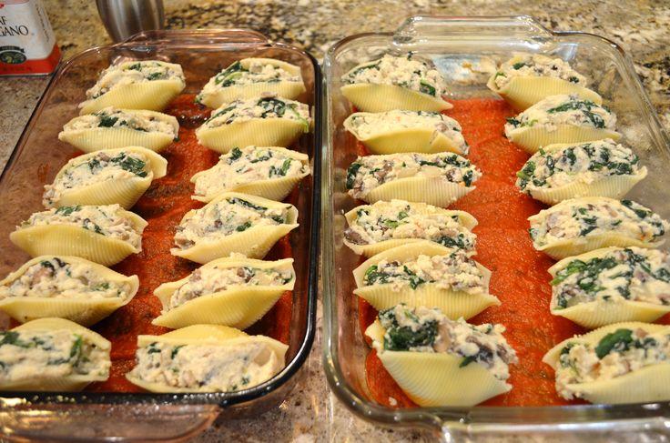Stuffed Shells With Ricotta, Spinach, And Portobello ...