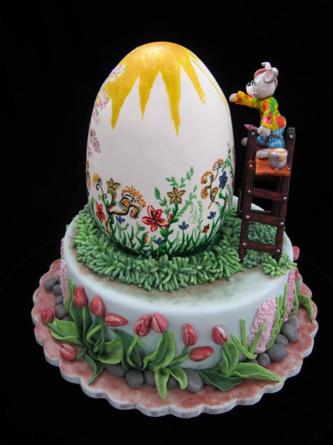 Easter Egg Cakes Recipe — Dishmaps