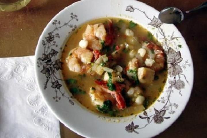 Shrimp and Scallop Posole | savory | Pinterest