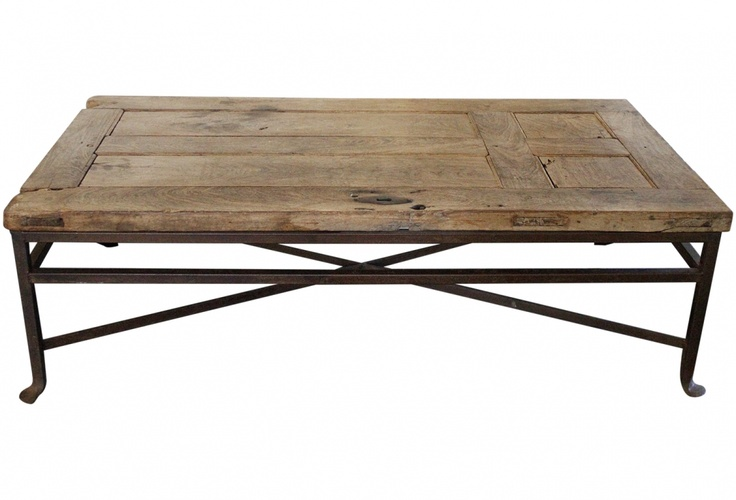 Coffee Table Made From An Antique Door