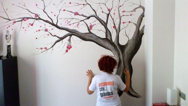 Dibujar un arbol en la pared sd pinterest - Arboles en la pared ...