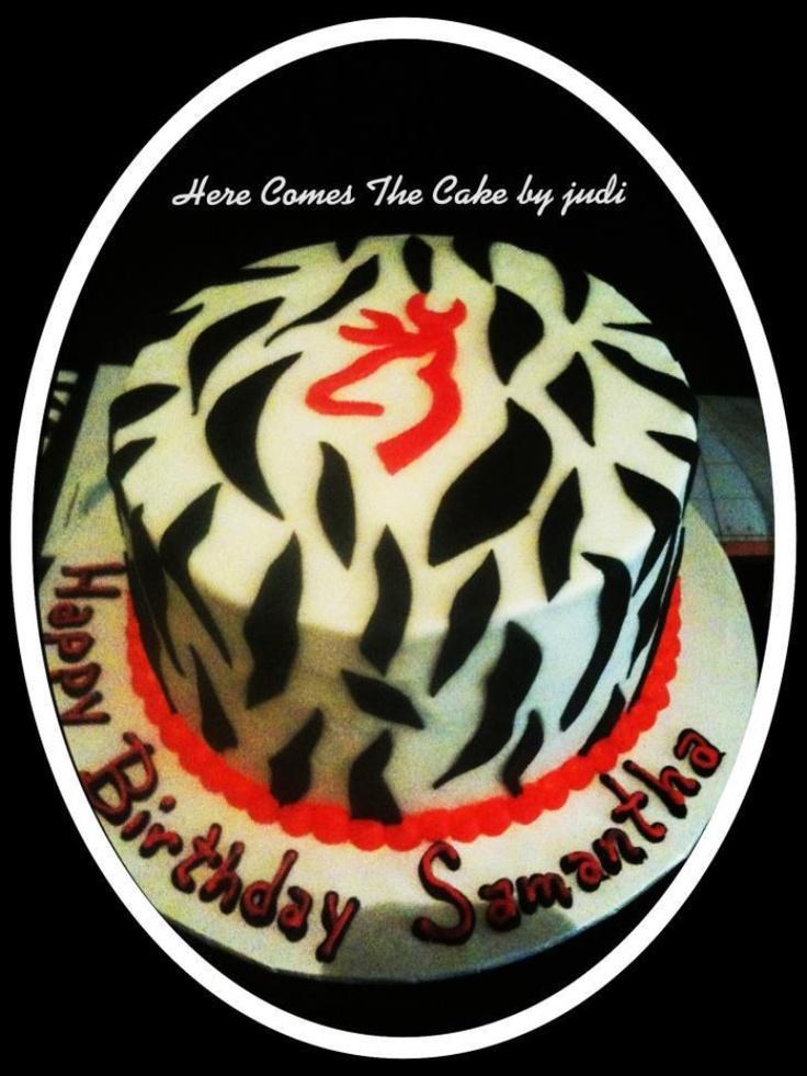 Hot Pink Browning Deer birthday cake