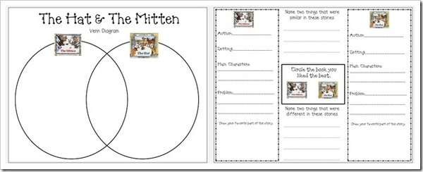 ... idea to compare The Hat and The Mitten, both by Jan Brett. #Recipes