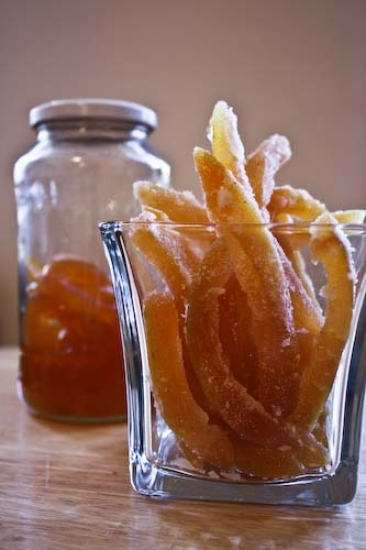 Candied Grapefruit Peel, Dried or in Syrup