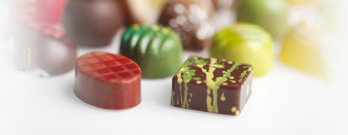 Norman Love Confections - introduced the use color in chocolate molds.