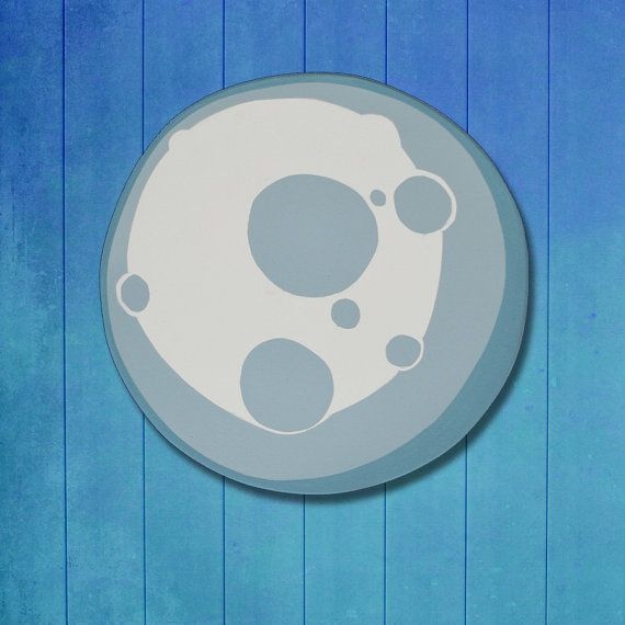 Moon outer space planet galaxy hanging wall art wooden - Hanging planets decorations ...