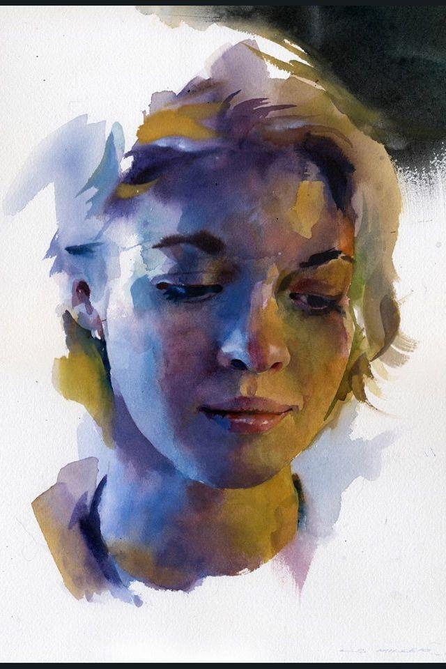 Stan Miller's watercolor portrait demo