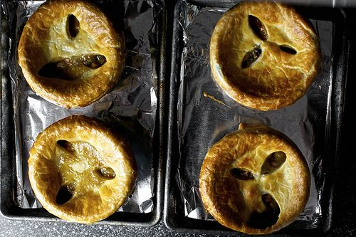 Pancetta, white bean and chard pot pies...four pot pies that want to ...