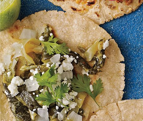 Rajas Poblanas (vegetarian taco filling with roasted peppers and ...
