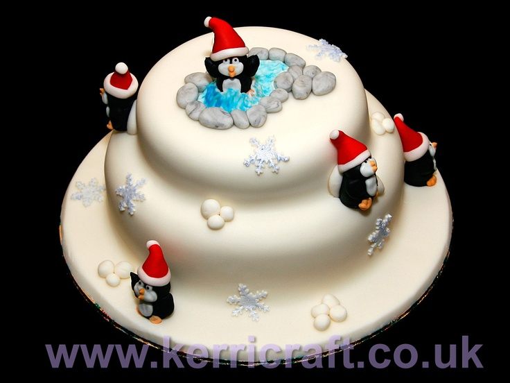 Christmas Cake Ideas With Penguins : Penguin Christmas Cake Penguin cakes Pinterest