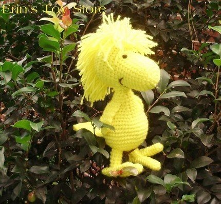 Confessions of Crafty Witches Crocheted Woodstock Amigurumi http://www