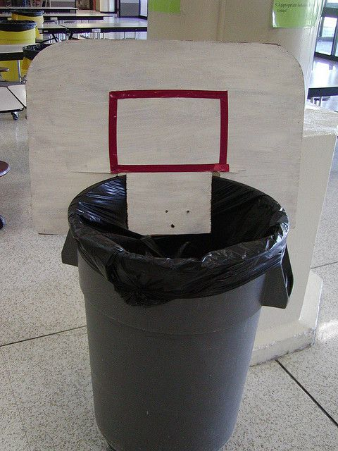 Trash can basketball backboard march madness pinterest - Basketball hoop garbage can ...