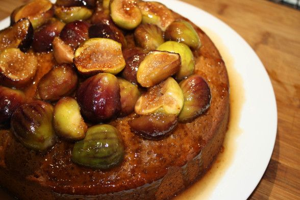 Spiced Honey Cake with Caramelized Figs | Edible Obsessions | Pintere ...