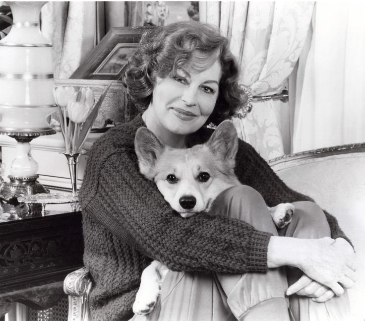 Ava Gardener and one of her corgis