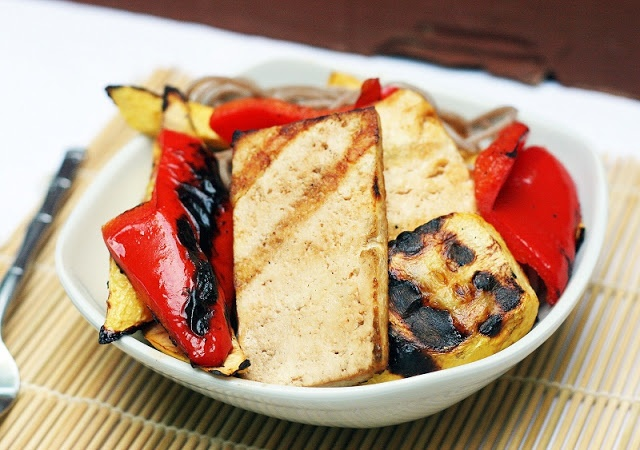 Grilled Tofu and Vegetables with Soba Noodles
