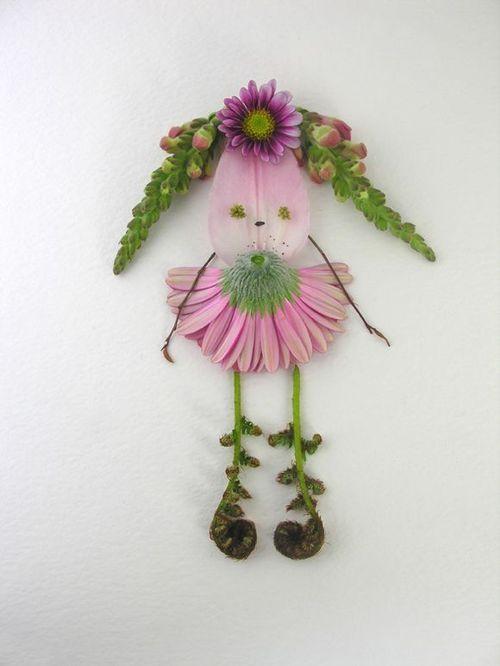 Figures made from flower petals diy crafts pinterest - Crafts with flower petals ...