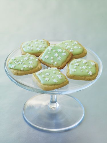 Lime-Glazed Cornmeal Cookies- would like to try with lemon instead