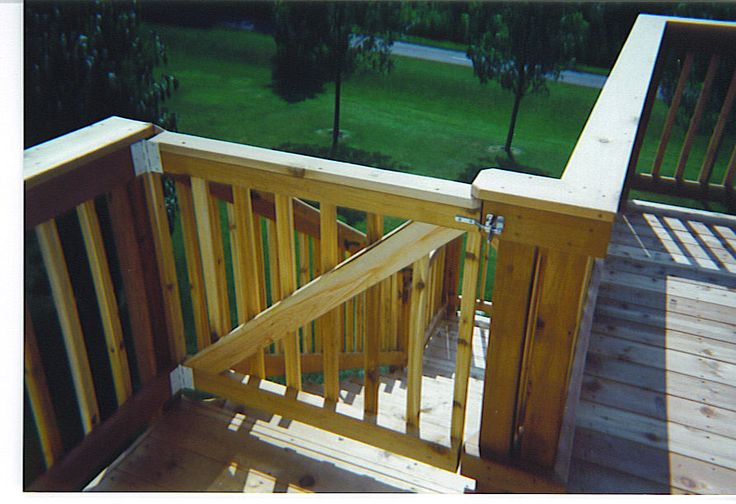 Gate for the Decks | DIY - For the Home | Pinterest