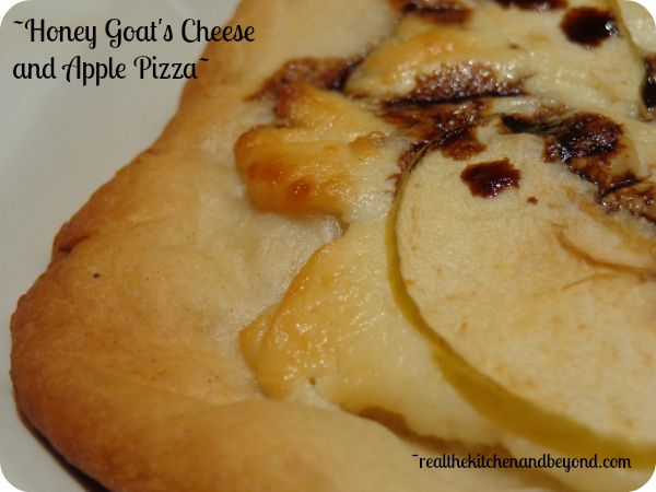 Honey goat's cheese and crisp rambo apples are perfect on this pizza ...