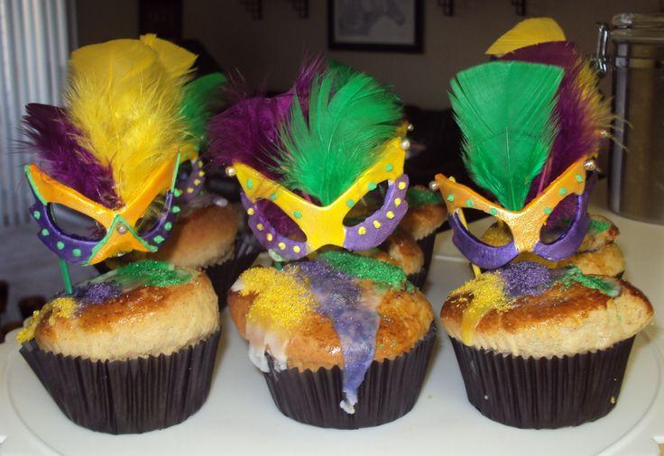 Mardis Gras Cupcakes | Mardi Gras | Pinterest