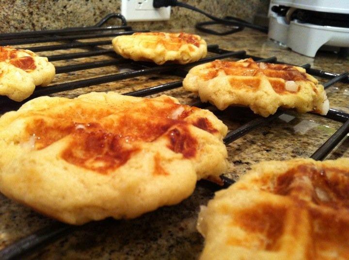 Belgian sugar waffles (Gauffres de Liege), with pearl sugar. Recipe ...