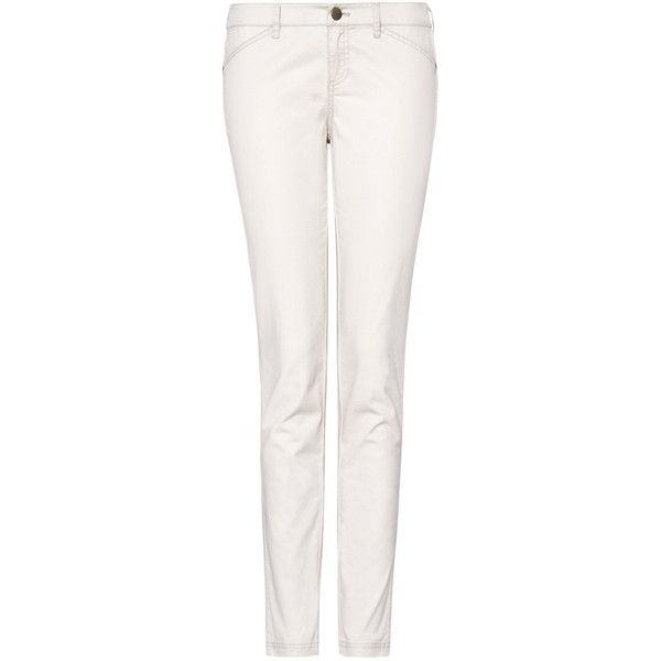Slim-Fit Cropped Trousers ❤ liked on Polyvore