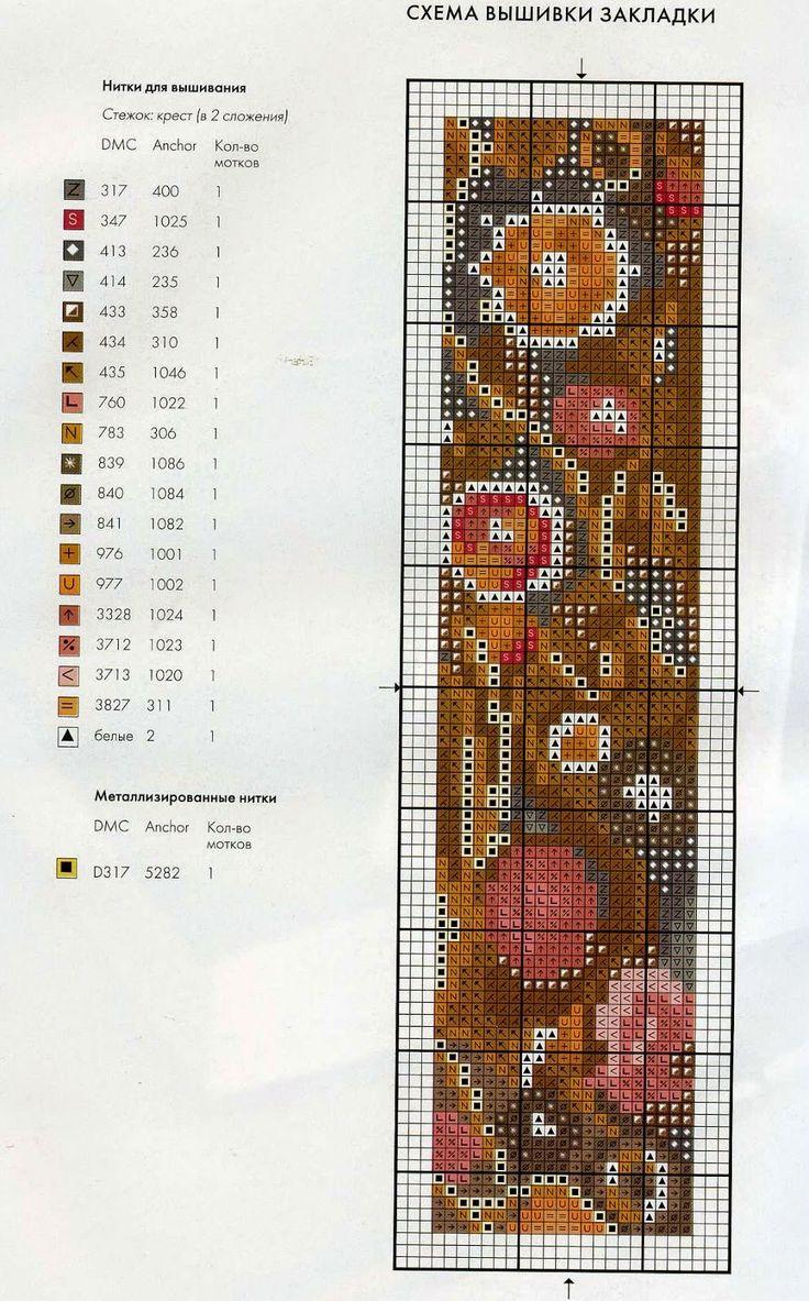 Закладки, бискорню и т.п. - Каталог схем для вышивки крестом 88