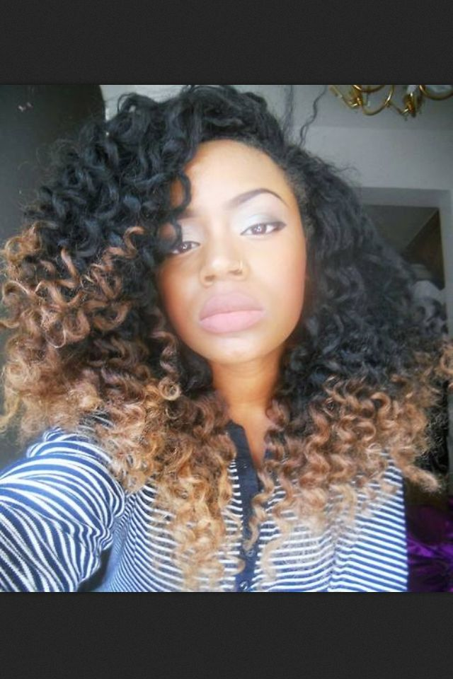 Curly ombré hair | Cool Hair, Don