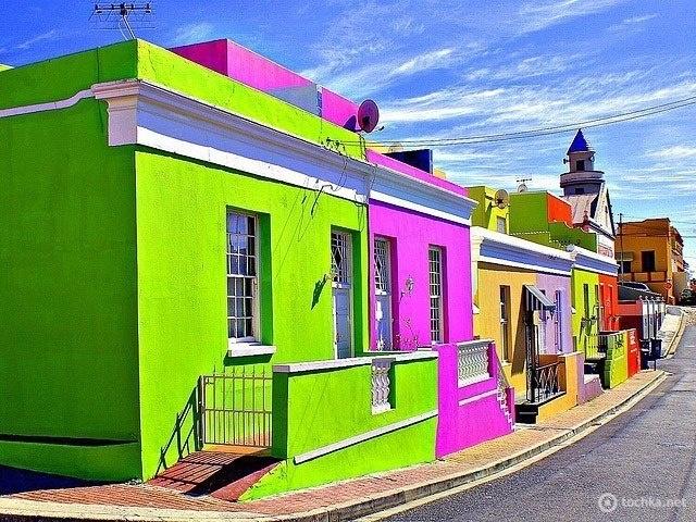South africa cape town bo kaap rainbow houses pinterest - Casas pintadas por fuera ...