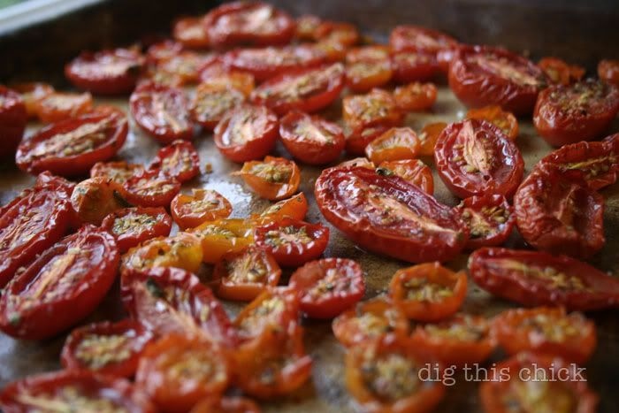 ... like this: roasted tomatoes , tomatoes and oven roasted tomatoes