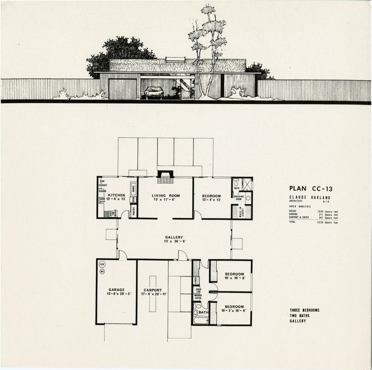 Pin eichler homes floor plans she venom festival chicas Eichler atrium floor plan
