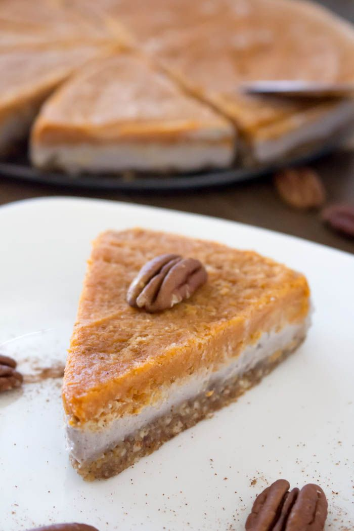 No-Bake Pumpkin Pie Cheesecake- vegan and utterly delicious!