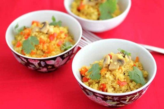 Quinoa Mushroom Pilaf - How to Cook Whole Grains In A Rice Cooker
