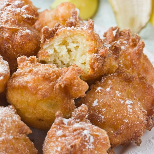 Coconut Banana Fritters via theKitchn. I want these right now! yummmm ...