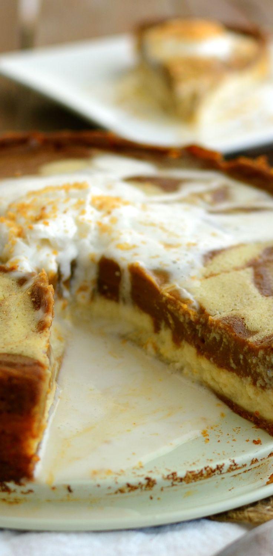 cheesecake pumpkin pie 2 | Foods that look Delicious | Pinterest
