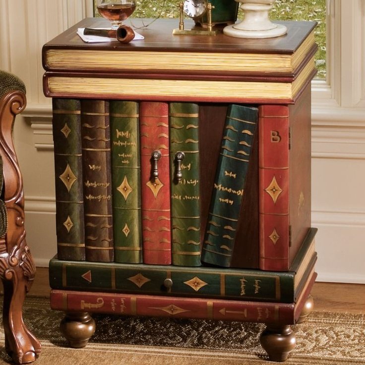 The lord byron wooden end table for How to make an end table out of books
