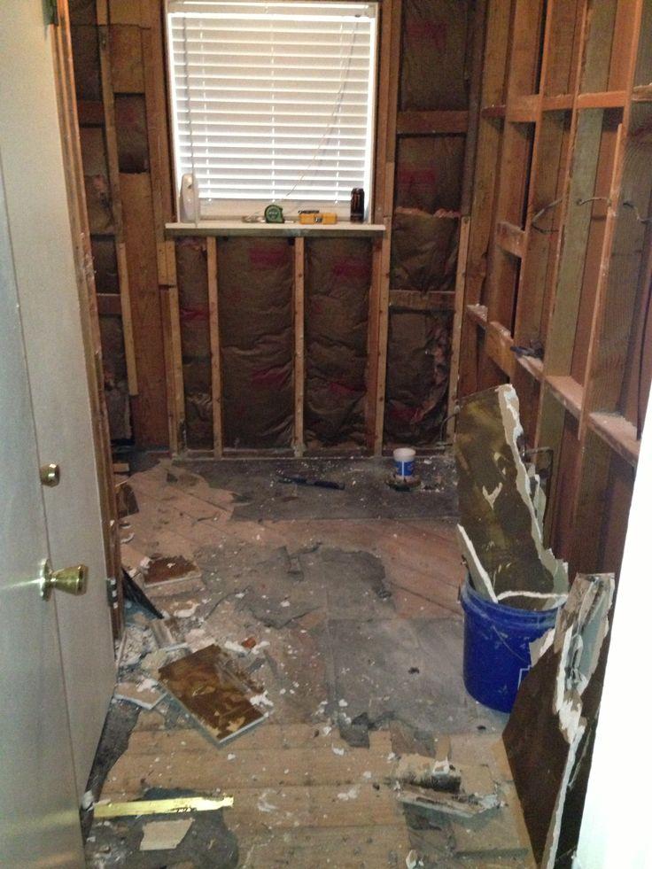 Demolition | Bathroom remodel-Guest | Pinterest