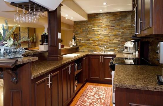 Basement Kitchen Design Glamorous Design Inspiration