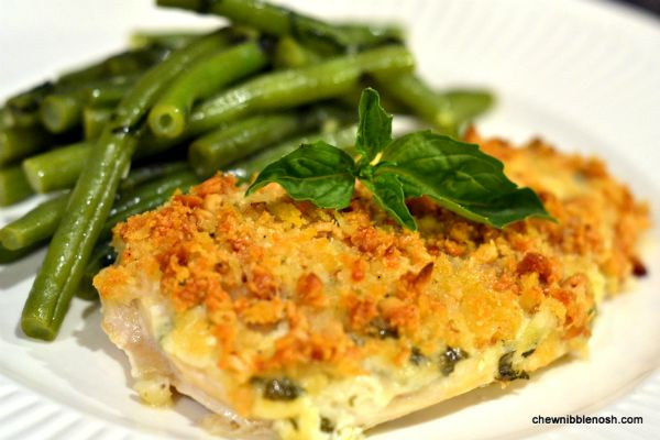 Pine Nut and Parmesan Crusted Chicken with Garlic Basil Green Beans ...