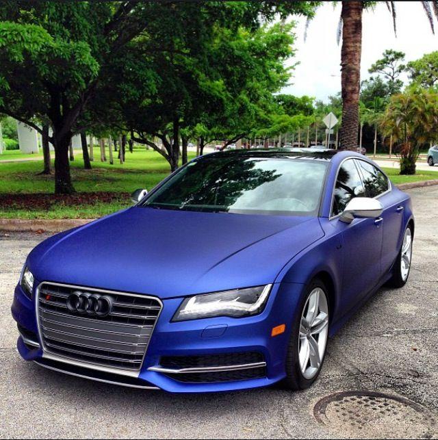 Matte Blue Audi S7 Cars Pinterest