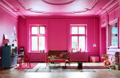 floor to ceiling pink