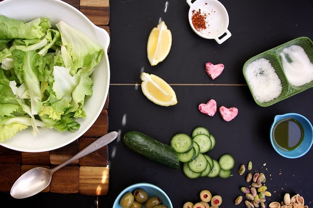 Green Salad with Pink Goat Cheese Hearts by joy the baker, via Flickr