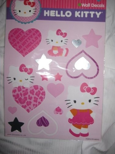 Hello Kitty Removable Large Wall Decals Mirror Heart Star Wall Decals ...