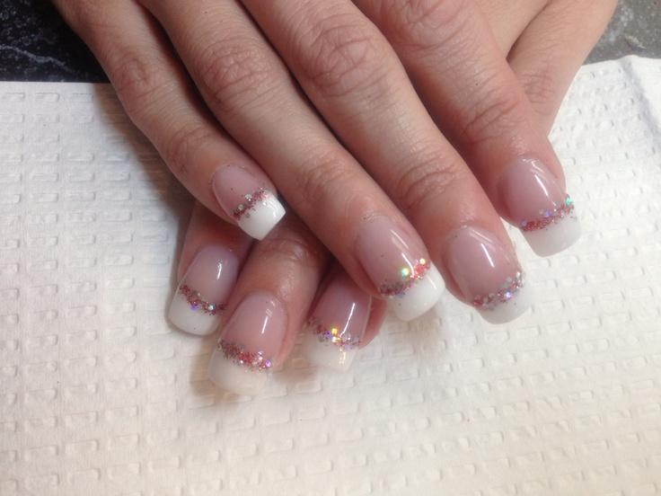 Opi Gel French Manicure/Glitter | Wedding | Pinterest