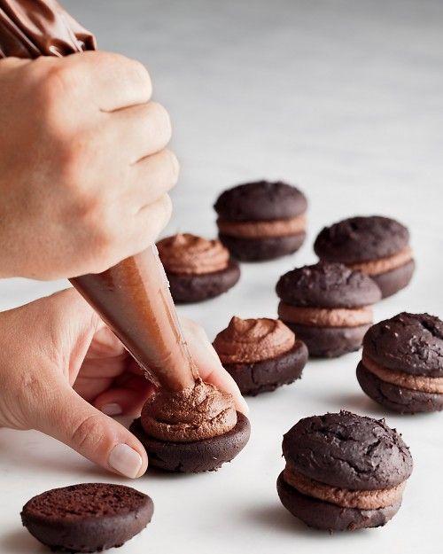 Mini Chocolate Whoopie Pies!