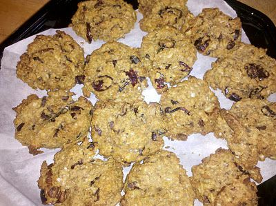 Pumpkin Oatmeal Cookies. Healthy, Vegetarian, High Protein, High Fiber