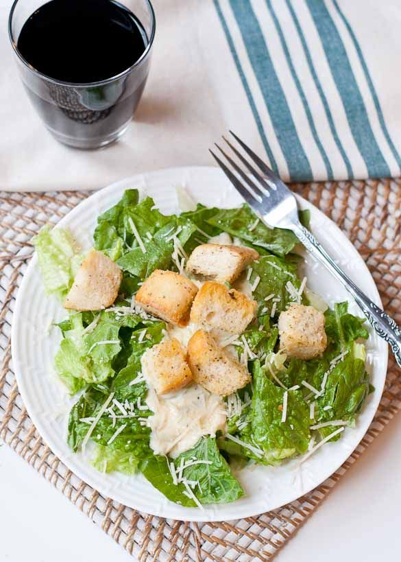 Easy Caesar Salad with Homemade Dressing | Recipe
