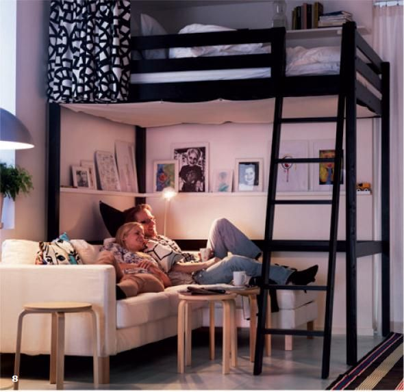 ikea loft bed | Favorite Places & Spaces | Pinterest