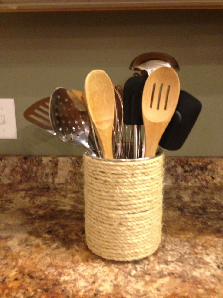 Diy Kitchen Utensils Holder All Things Home Pinterest